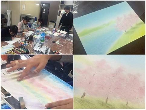 パステル画教室20150208