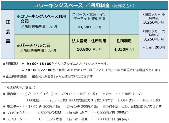 料金表改定2015年5月改定